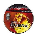 Umarex Premium Cobra 200 Stück Spitzkopf Luftgewehrkugeln für Luftdruckwaffen, Luftgewehr und Luftpistole Jagddiabolos im Kaliber 5,5mm