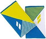 Babolat Logo Jumbo Unisex Schweißband Weiss blau gelb 2er