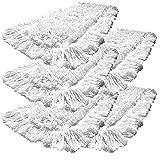 Gizmop 5er-Pack 40 cm Einweg Bodenwischer Wischmop aus 100% Baumwolle. Ideal für geöltes Parkett Dielen Laminat & Fliesen und Werkstätte mit Metallspähnen (40cm)