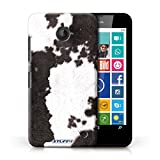 Handy Hülle kompatibel mit Nokia Lumia 630 Tierpelz Muster Kuh/Schwarz Transparent Klar Ultra Dünne Handyhülle Case Cover