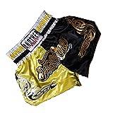 LGQ MMA Shorts für Männer und Frauen Print Muay Thai Shorts Kampftraining Boxhose Kampfsportbekleidung,Style5,M