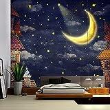 Böhmischer Stil dekorative Wandbehang psychedelische Szene Sternenhimmel Kunst Wandteppich Schlafzimmer Dekoration Wandteppich A4 180x200cm