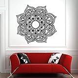 HGFDHG Schöne Pflanze Blume Symbol Vinyl Aufkleber Pflanze Blume Wandtattoo für zu Hause Schlafzimmer Yoga Wandkunst Wandbild Auto Fenster Dekoration