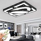 Deckenlampe 78W LED Kreative Deckenleuchte Raumschiff Energiesparlampe Für Schlafzimmerlampe Wohnzimmerleuchte Küchen Balkon Flur Schwarzer Rahmen (Dimmbar 3000K-6500K)