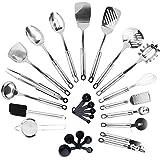 KRONENKRAFT® 26 teiliges Küchenset aus Edelstahl Küchenutensilien Set, Küchenzubehör, Kochset, Kochzubehör S