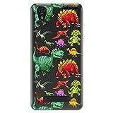 dakanna Kompatibel mit [ ZTE Blade A452 ] Flexible Silikon-Handy-Hülle [Transparenter Hintergrund] Dinosauriermuster Design, TPU Case Cover Schutzhülle für Dein Smartphone