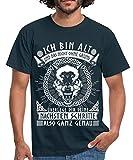 Ich Bin Alt Und Das Nicht Ohne Grund Statement Wikinger Männer T-Shirt, XL, Navy