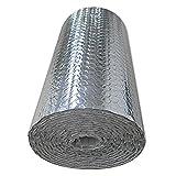 Isolierende Luftpolsterfolie Selbstklebend Isolierfolie Isolierung Isoliertapete Wand Isolierung Dämmung Isolierung Dachisolierung Isolierung Folie Dämmfolie Aluminium Dachboden(Size:1x7m/3.2x22.9ft)