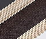 27mm Multiplex Zuschnitt Siebdruckplatten Multiplexplatten Zuschnitte Melaminbeschichtet Birke Bodenplatte Holz Braun Grau (Breite 55 cm, Länge 60 cm)