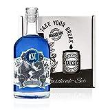 Breaks KSC Gin - Geschenk Set mit Tasse plus 500 ML KSC Gin - Ausgezeichneter Gin mit Lavendel & frischen Zitronen - Milde Florale Note - Handmade in Karlsruhe