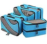 Eono by Amazon - 6 Teilige Kleidertaschen, Packing Cubes, Verpackungswürfel, Packtaschen Set für Urlaub und Reisen, Kofferorganizer Reise Würfel, Ordnungssystem für Koffer, Packwürfel, Blau