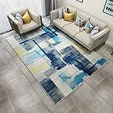 ZAZN Rutschfester, Verschleißfester Teppich Wohnschlafzimmer Wohnzimmer Sofa Couchtischmatte 3D-Druck Büroeingangsdecke