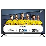 CHiQ L40G4500 100cm Fernseher 40 Zoll TV FHD LED Fernseher, Triple Tuner, HDMI, USB, CI+, H.265, Dolby Plus, Schw