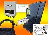 Solax 1200Watt Balkonkraftwerk Solaranlage mit Internetüberwachung (MIT MONTAGEMATERIAL FÜR PFANNENDACH/ZIEGELDACH)