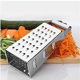 Reibe - 8 Zoll 304 Edelstahl - allseitig erhältlich - geeignet für Gurken, Karotten, Käse, grünen Pfeffer, Knoblauch usw. - Küchengeräte - spülmaschinenfest