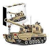 RSWLY Technics Panzer Modell-Kits, 1155 Teile Typ 84 Panzer Bridge Truck WW2 Military Tank Bauset für Kinder und Erwachsene, Bausteine Kompatibel mit Lego Technic (Farbe: 10007)
