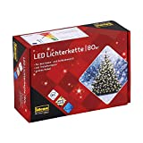 Idena 8325058 - LED Lichterkette mit 80 LED in warmweiß, mit 8 Stunden Timer Funktion und Transformator, ca. 15,9 m lang, Innen- und Außenbereich, für Partys, Weihnachten, Deko, H