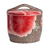 KUANDARMX Mehldosen Feuchtigkeitsbeständige Reisaufbewahrungsboxen Tiernahrungsbehälter Aufbewahrungseimer Keramikaufbewahrungsbehälter Küche versiegelt, Red, 32x32x33cm