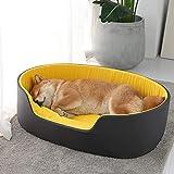 Zwinger Petbed 3D Waschbar Zwinger Haustier Bett Für Hunde Katzenhaus Hundebetten Für Große Hunde Haustiere Produkte Für Welpen Hundekissen Matte Liege Bank Sofa 49X35X18 Schwarz