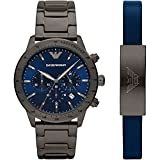 Emporio Armani Mens Analog Quartz Uhr mit Stainless Steel Armband AR80045