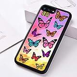 WGOUT Silikon-Handyhülle für iPhone 6 6S 7 8 Plus 5 5S SE X XS XR 11 PRO MAXBunte Schmetterlingsmuster, Für iPhone 5S