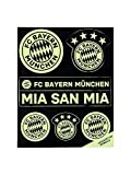 FC Bayern München Leucht Aufkleber-Set Log