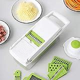 Multifunktionaler Zwiebelzerkleinerer, Würfelmaschine, Gurke, Tomaten, Kartoffeln, Salat, Apfel, Lebensmittelzerkleinerer mit Reinigungsbü