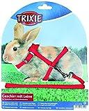 Trixie 6150 Kaninchengeschirr mit Leine, Nylon, 25–44 cm/8 mm, 1,30