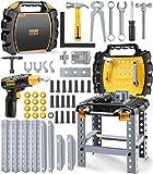 GeyiieTOYS Werkzeugkoffer Werkzeug Kinder Spielzeug Werkzeugkasten Handwerker Set Spielwerkzeug für Kleinkinder ab 3 Jahre, 54 Stücke