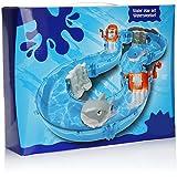 com-four® 47-teilige Wasserbahn - Wassertisch für Kinder - Wasserspiel mit Fischen - Kinder Outdoor Spielzeug
