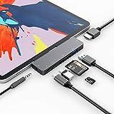 3XI USB C Hub für iPad Pro/iPad Air 4, 7 in 1 Typ C auf HDMI 4K Adapter, PD Ladeanschluss, USB 3.0 Anschlüsse, SD/TF Kartenleser ,Typ c Datenschnittstelle, 3,5 mm Audio, kompatibel mit MacBook Pro/Air
