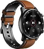 Smart Watch Fitness Tracker Blutdruck Pulsmesser Sport Musik Smartwatch für Herren & Damen Braun