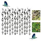 12 Stück Vogelabwehr Spirale,Vogelschreck Vogelabwehr,ReflektierendeWindspiraleVogelschreck,Windspirale Vogelabwehr,Vogel Abwehr Garten Dekoration für Balkon und Garten (Silber)