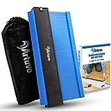 Artuvo® Konturenlehre groß - Premium Laminat Werkzeug inkl. Schutzbeutel - Meisterhaftes Abtasten und Übertragen mit der Konturlehre - Gratis eBook zur Bodenverlegung - Erspart Zeit und Ärg