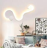 AXMLSN Moderne Kreative Modellier-Wandleuchte Modern Treppenleu Wandlampen Mode Aluminium Büro Kinderzimmer Wohnzimmer Schlafzimmer Treppenhaus Loft Wandlampe (White+Cold light+C)
