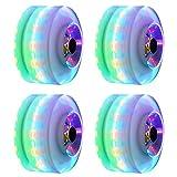 Leuchtend Skateboard Räder, 4PCs / Set Räder Quad Roller Skate/Skateboard Räder Für Doppel Reihe Skating Und Skateboard - Bunt