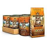Wolfsblut | Wide Plain Nassfutter Mixpaket 6 x 395g + 500g + 225g | Trockenfutter | Hundefutter | Getreidefrei | Probierpaket
