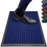 Fußmatten in Allen Farben und Größen [rutschfest, waschbar & schmal] optimale Größe für die Haustür. Fußmatte innen & Fußmatte außen. Fußmatte 40x60 Schmutzfangmatte 40x60 Fussmatte innen blau PazCaz