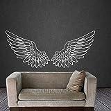 Angel Wings Wandtattoo Aufkleber Aufkleber Vogel Gott Big Wings Home Decor Kunst Wandbild Schlafzimmer Wohnheim Wandaufkleber A5 57x24cm