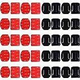 40PCS Klebehalterung Flache Gebogene Klebepad, Flache und Gebogene Halterungen, Gopro Hero 8 Halterung Helm, für Die GOPRO Action Camera Hero Session / 4/3/3 + / 2 Action Camera DV Geeignet