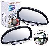 Toter Winkel Spiegel Auto,Biqing Universal Blind Spot Spiegel Verstellbar Zusatz Auto Aussenspiegel Weitwinkel Spiegel Zusätzliche Rückspiegel (Links + Rechts)