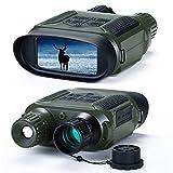 Nachtsicht-Fernglas, 10,2 cm (4 Zoll) Nachtsichtbrille mit LCD-Bildschirm, 640P Video HD Infrarot Digitalkamera für Spotting Jagd (mit 32G Speicherkarte) Grün