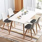 Esszimmerstühle Set Modern Wohnzimmerstuhl, Besucherstühle Skandinavisch,Schmink Stühle,Küchenstühle,Armlehnstuhl mit Solide Buchenholz Bein,Schalenstuhl für Esszimmer Wohnzimmer Küche