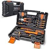 Haushalts-Werkzeugkoffer,TACKLIFE 56-teilig Haushaltskoffer, Multifunktion-Werkzeugkoffer für den Heimgebrauch, perfekt für alle Heimwerkerarbeiten mit Hammer, Messer, Schraubendreher - HHK3B