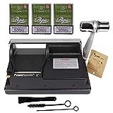 Powermatic 1 Plus Elite neuste Version Sepilo® Zigarettenstopfmaschine I Zigarettenstopfer Zigarettenmaschine Zigarettenfertiger 3X Pepe Zigarettenbox (inkl. 3X Rich Green Pepe Box)