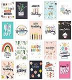 Edition Seidel Set 20 Geburtstagskarten Postkarten Glückwunschkarte Grusskarte Geburtstag Geburtstagskarte Mann Frau Karten Happy Birthday Billet Sprüche