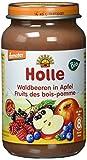 Holle Waldbeeren in Apfel, 6er Pack (6 x 220 g) - Bio