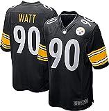 JesUsAvila W-at.t #90 American Football T-Shirts NFL Rugby Jersey Outdoor Sportbekleidung für Herren Casual Kleidung Elastizität/Schwarz / 3XL