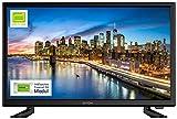 DYON Live 22 Pro inkl. freenet (DVB-T2) Modul 54,6 cm (22 Zoll) Fernseher (Full-HD, Triple Tuner (DVB-C/-S2/-T2), DVB-T2 H.265/HEVC, Hotelmodus, PC-Monitor-Anschluss)