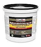 Isolbau 10kg Balkonabdichtung Dichtschlämme 2-K Abdichtung Terrasse Balkone Bad Keller D